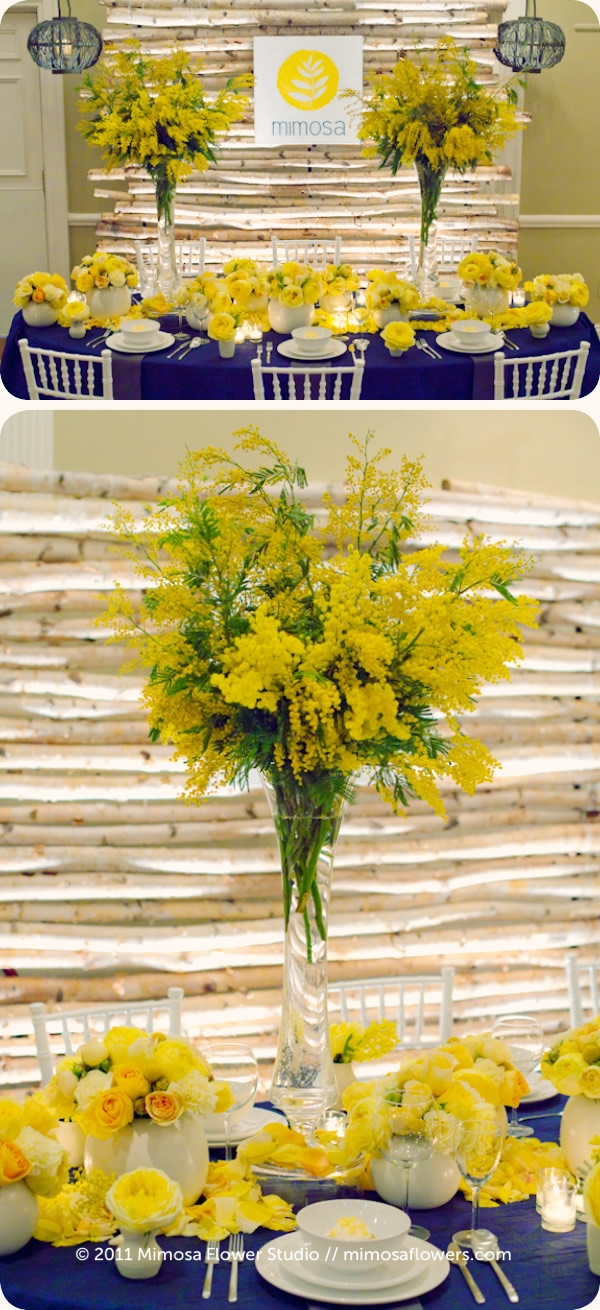 2001 Vintage Hotels Wedding Show - Mimosa Flowers Booth Display