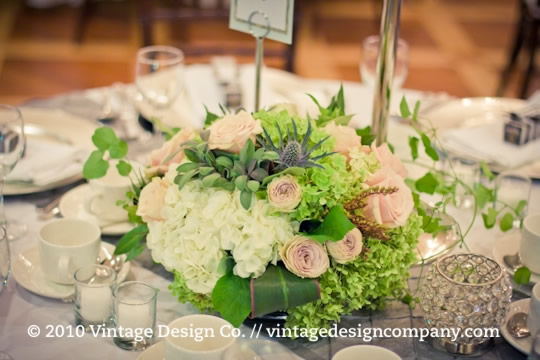 Full Floral Wedding Reception Centerpieces