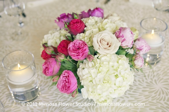 Pink and White Centerpiece Inn on the Twenty 2