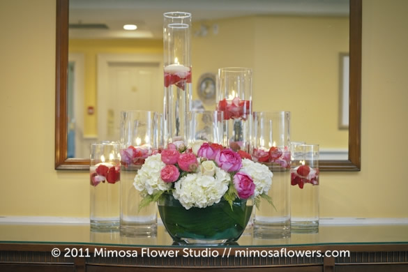 Pink and White Centerpiece Inn on the Twenty 3
