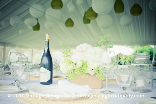 Good Earth Food and Wine // Cork Wedding Reception Centerpieces 2