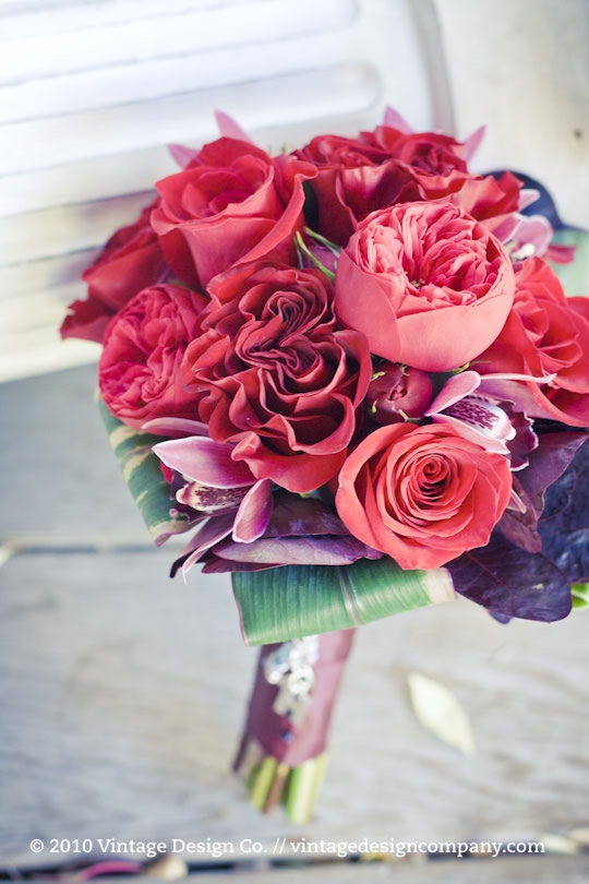 Red Bridesmaid's Bouquet
