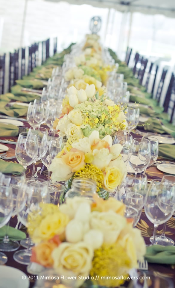 Chateau des Charmes Winery - Outdoor Reception Tablescape