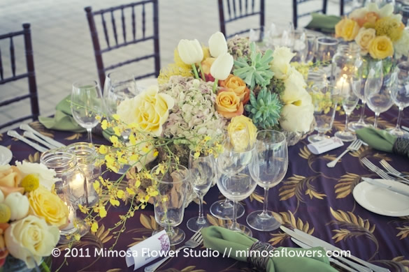 Chateau des Charmes Winery - Outdoor Reception Tablescape 12