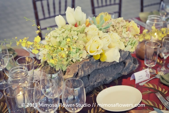 Chateau des Charmes Winery - Outdoor Reception Tablescape 2