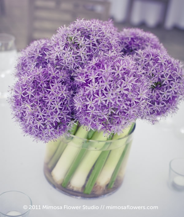Chateau des Charmes - Flower and Veggie Centerpieces 1