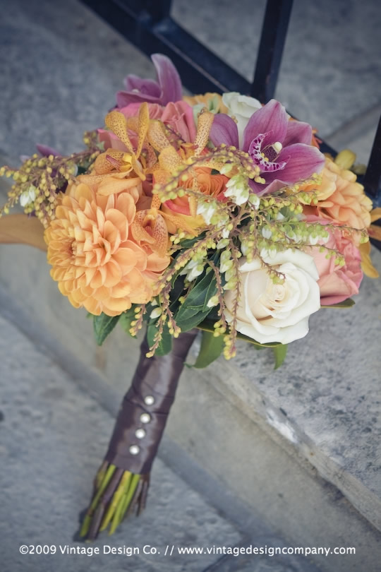 Vintage Design Co. // Niagara-on-the-Lake Wedding Flowers // Bridesmaids Bouquet