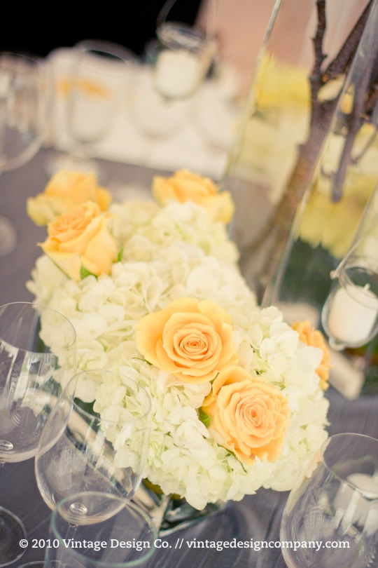 Wedding Reception Centerpiece in Yellow and White 4