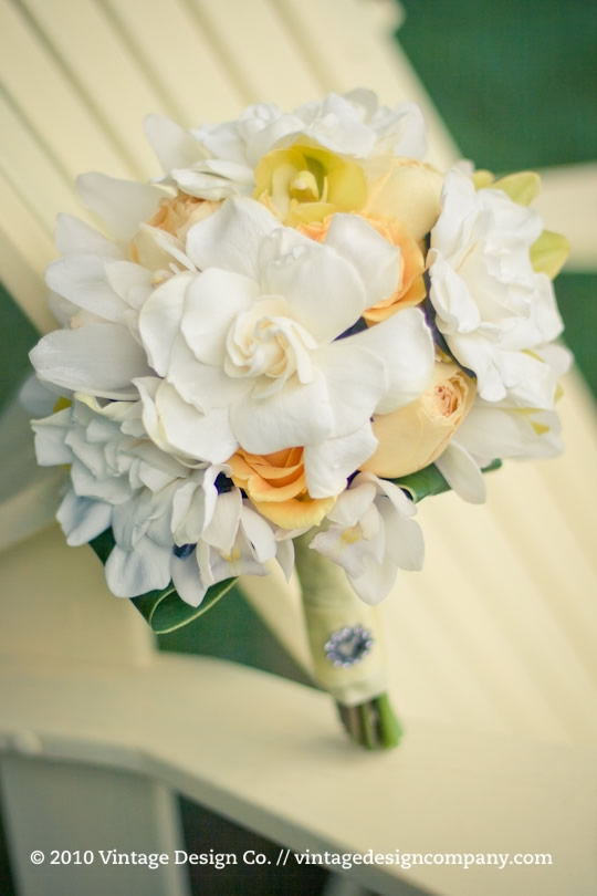 Yellow Bride's Bouquet // Gardenia