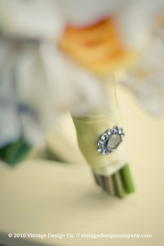Yellow Bride's Bouquet // Closeup