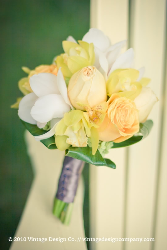 Yellow Bridesmaid's Bouquet