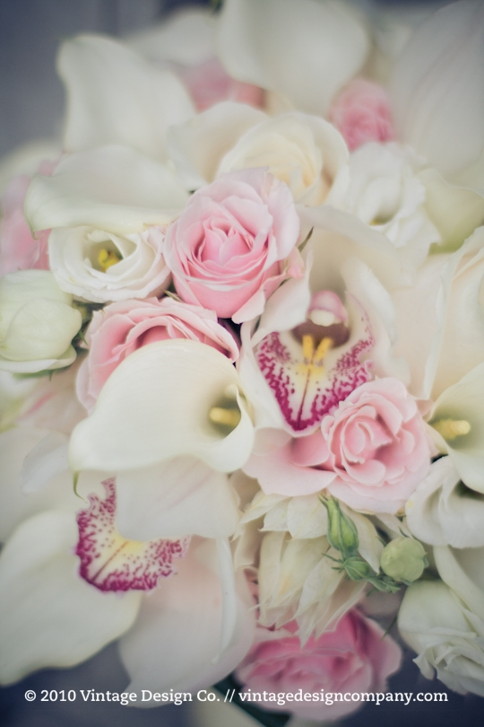 Soft Pink and White Bride's Bouquet /// Orchids Calla Lily 2