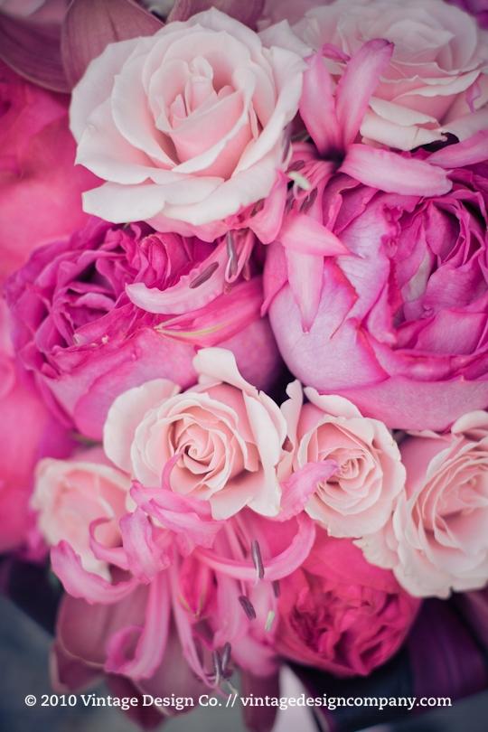 Deep Pink Bride's Bouquet // Garden Roses