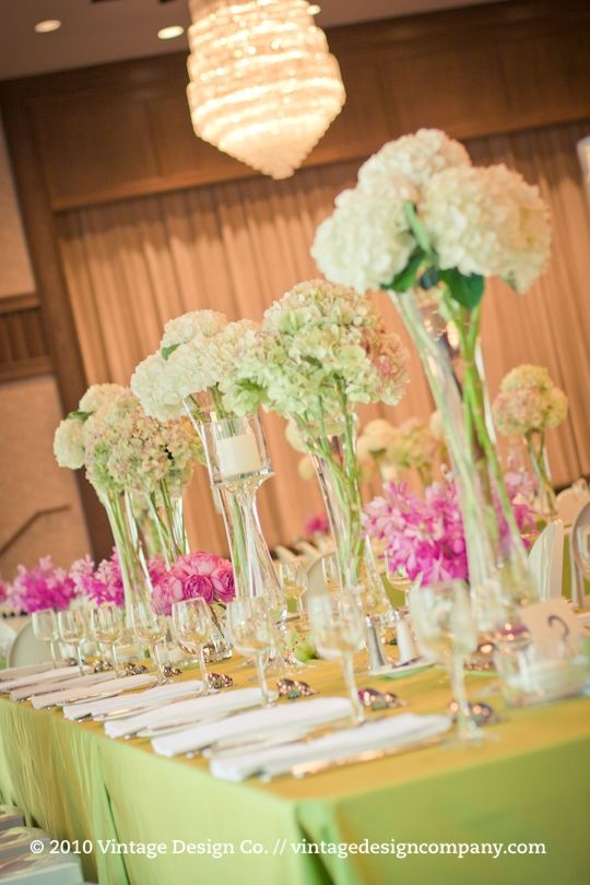 Tall Wedding Centerpieces at The Granite Club