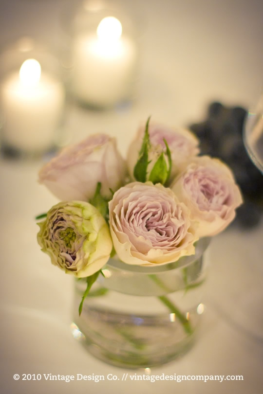Wedding Reception Centerpieces at Vineland Estates Winery