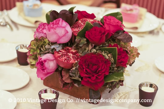 Red Centerpieces with Pomegranates 3
