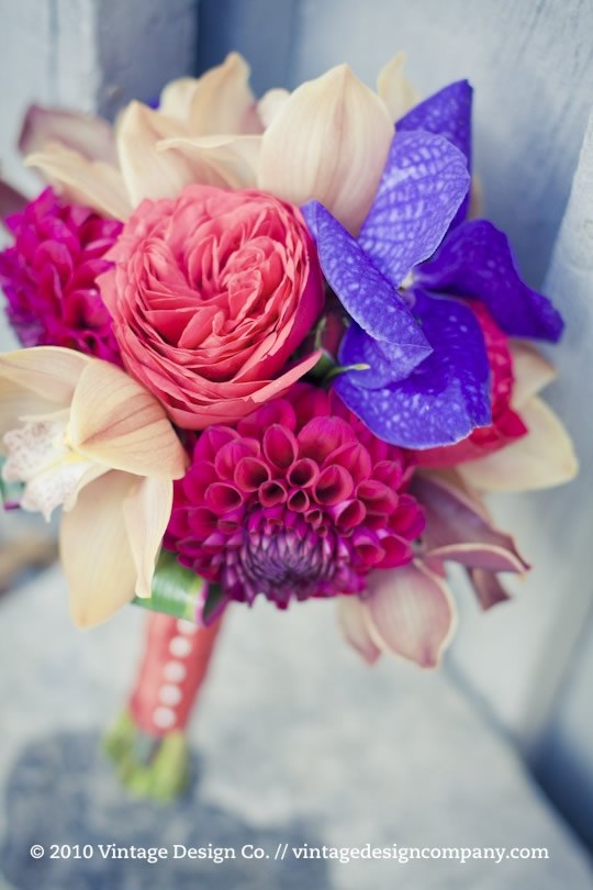 Jewel Toned Bridesmaids Bouquet