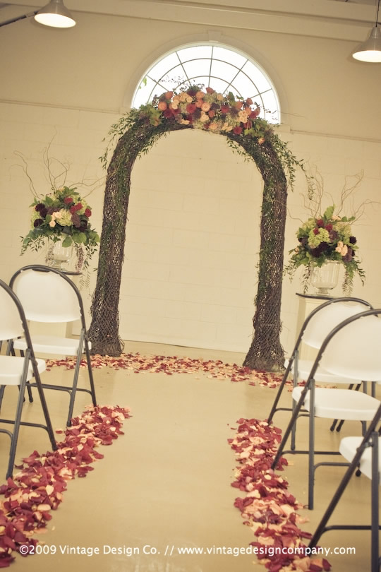 Niagara Wedding Florist // Grapevine Arbour