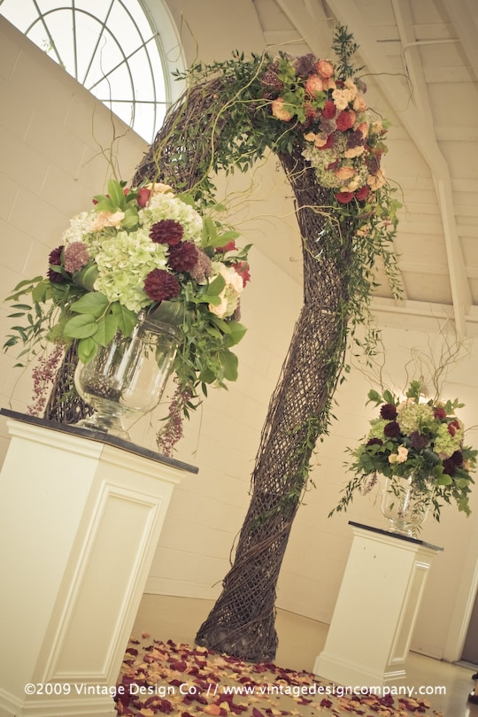 Niagara Wedding Florist // Grapevine Arbour 2