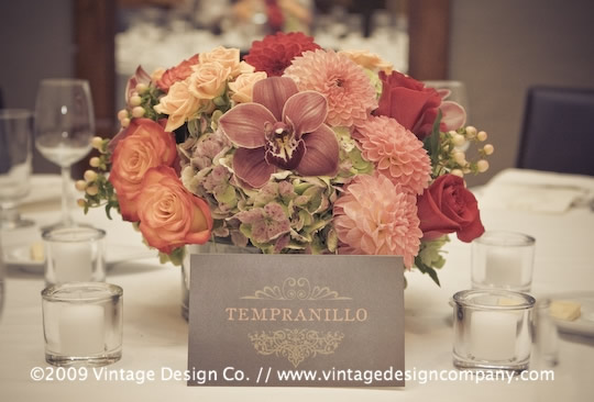Niagara Wedding Florist // Reception Centerpieces