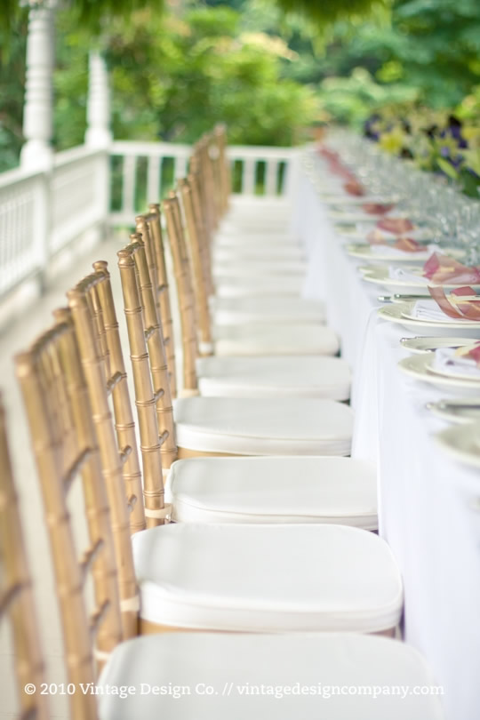 Vintage Design Co. // Wedding Recption on the verandah at Grand Victorian in Niagara on the Lake 4