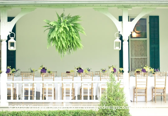Vintage Design Co. // Wedding Recption on the verandah at Grand Victorian in Niagara on the Lake