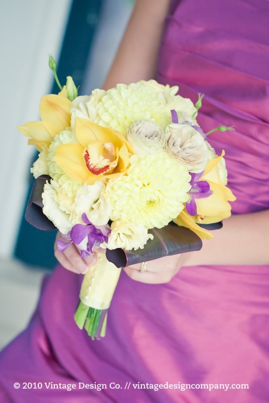 Vintage Design Co. // Yellow Bridesmaid's Bouquet 2