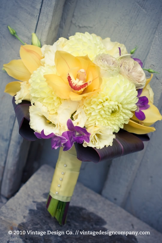 Vintage Design Co. // Yellow Bridesmaid's Bouquet