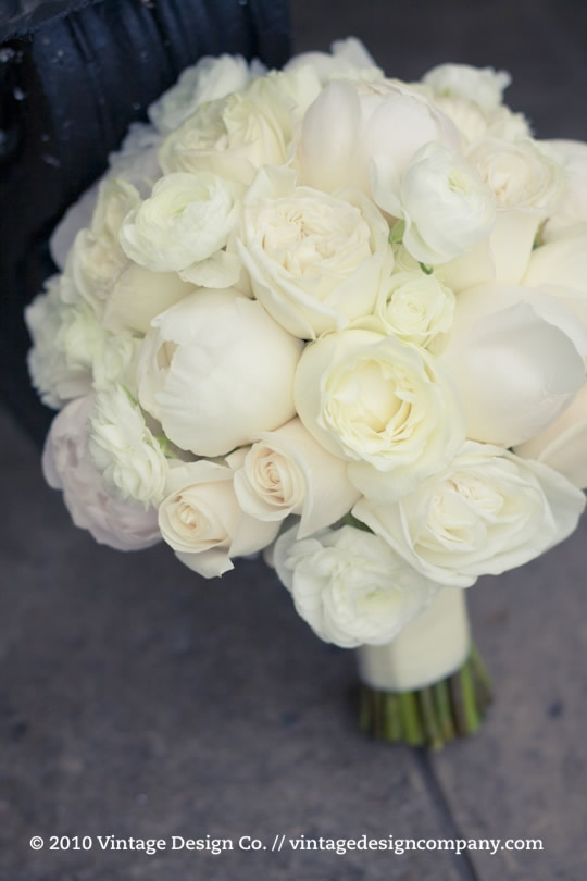White And Ivory Brides Bouquet