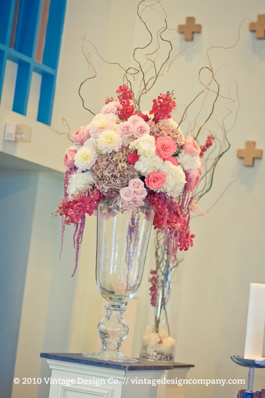 Roman Catholic Wedding Altar Flowers