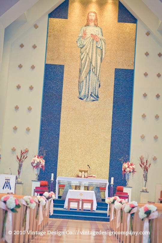 Roman Catholic Wedding Altar Flowers 2