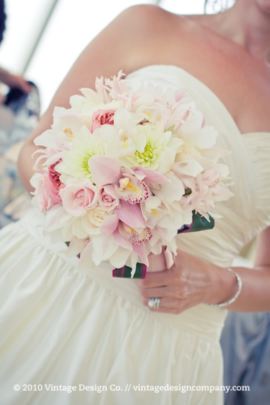 Pink and White Bride's Bouquet 2