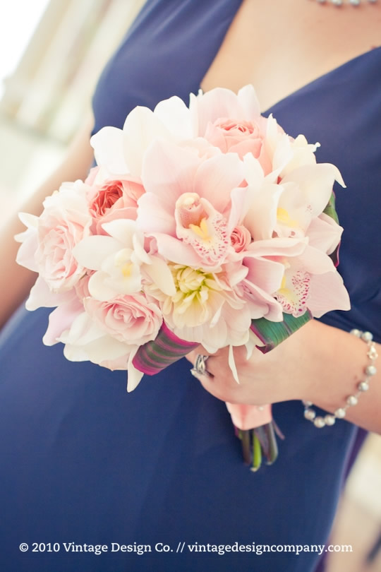 Pink and White Bridesmaid Bouquet 3