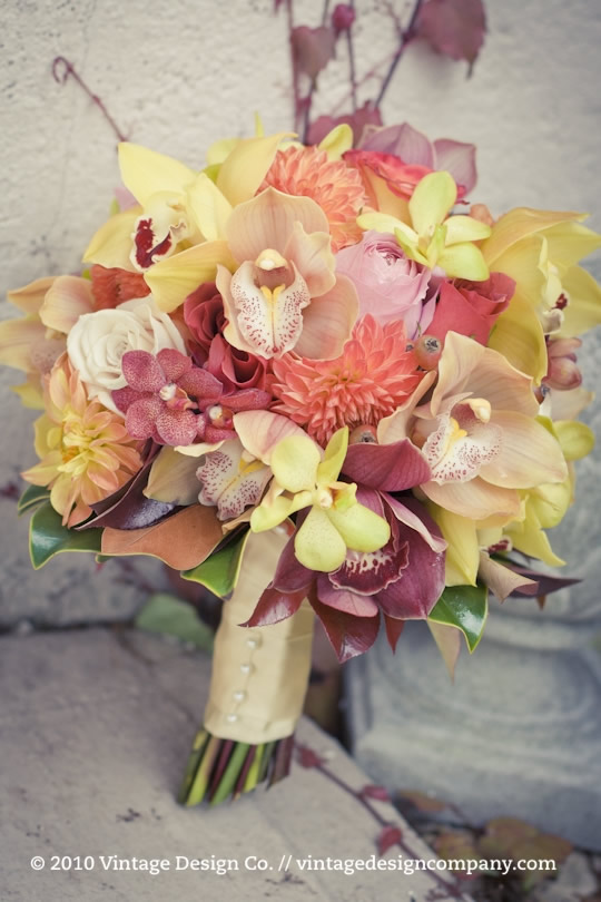 Niagara Winery Wedding // Orange Fire Brides Bouquet