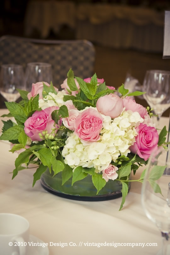 Vintage Design Co. // Pink Wedding Centerpieces