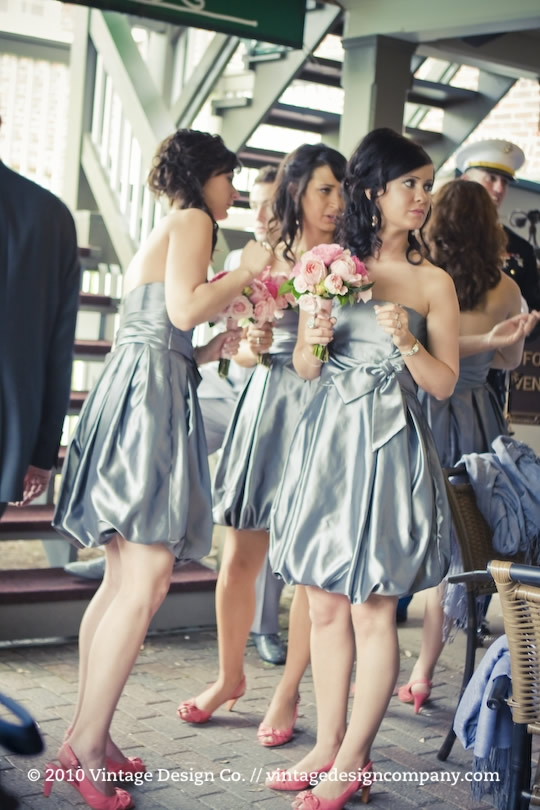 Vintage Design Co. // Silver and Pink Bridesmaids