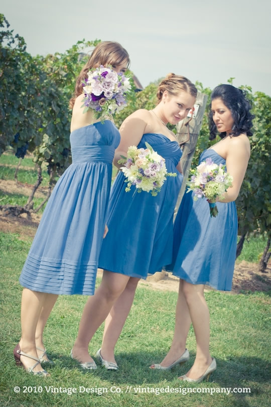 Lavender and Blue Bridesmaids Bouquets 2