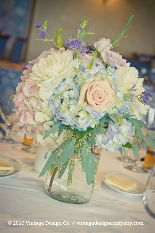 Lavender and Blue Wedding Flowers