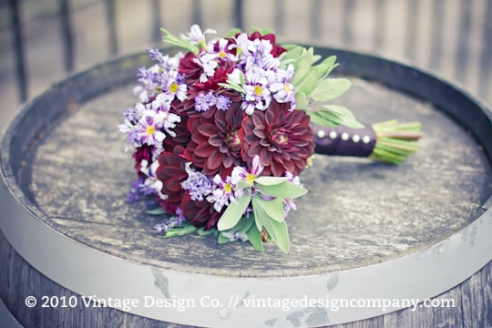 Niagara on the Lake Wedding Florist // Purple Bride's Bouquet 2