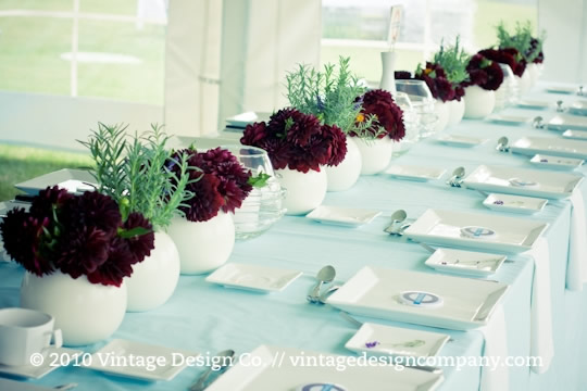 Niagara on the Lake Wedding Florist // Dahlias and Lavender Tablescapes 3