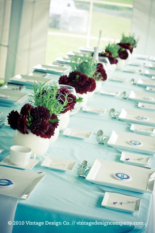 Niagara on the Lake Wedding Florist // Dahlias and Lavender Tablescapes