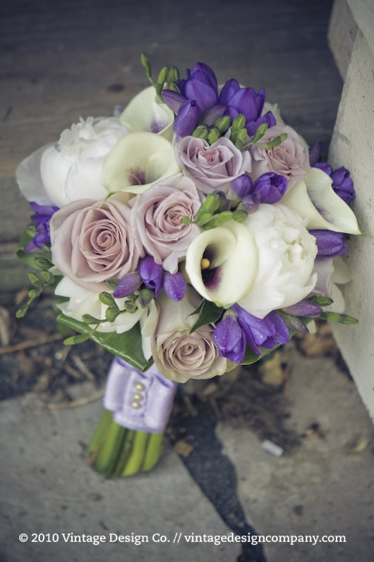 Niagara on the Lake Wedding Florist // Purple Bride's Bouquet