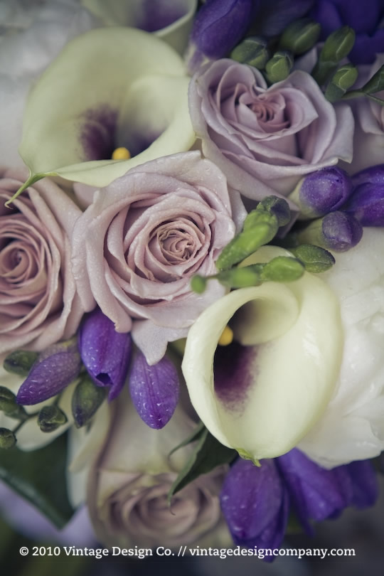 Niagara on the Lake Wedding Florist // Purple Bride's Bouquet Close Up