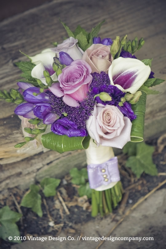 Niagara on the Lake Wedding Florist // Purple Bridesmaid's Bouquet