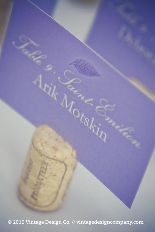 Purple wedding stationery