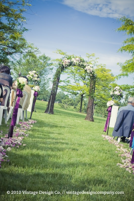Outdoor Winery Wedding Ceremony in Niagara on the Lake 2