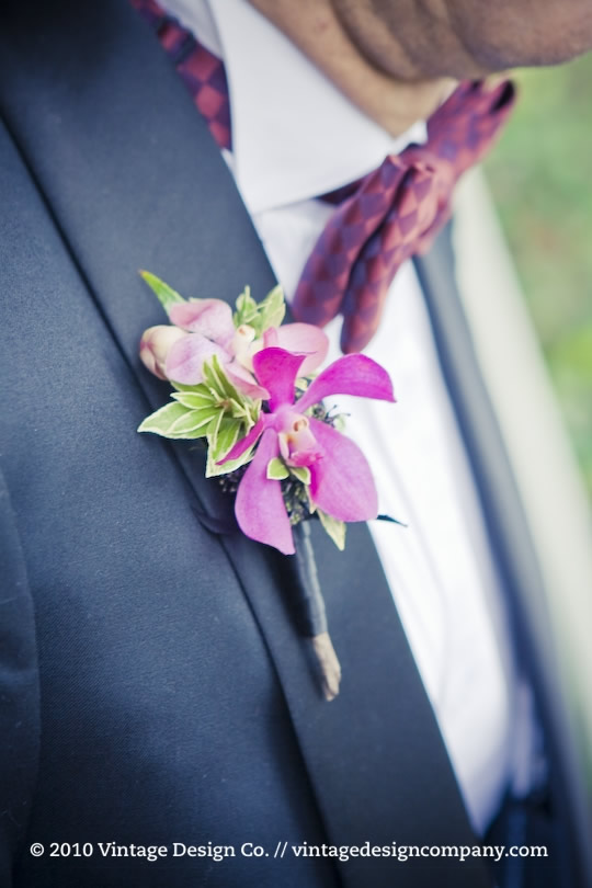 Father of the Bride // Orchid Boutonnierre
