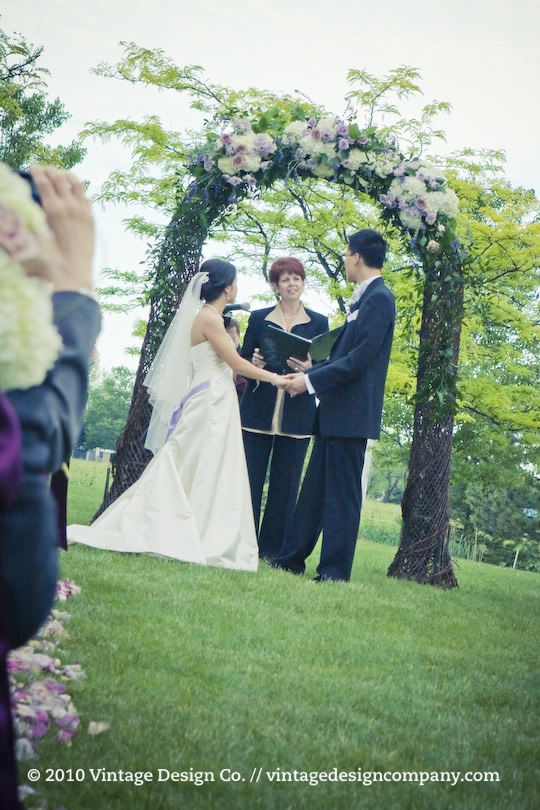 Outdoor Winery Wedding Ceremony in Niagara on the Lake 4