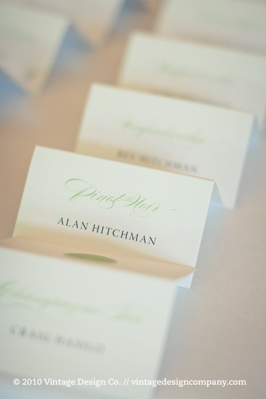 Vintage Design Co. // Wedding Placecards