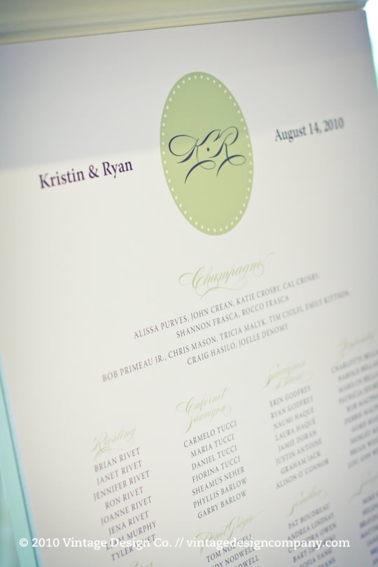 Vintage Design Co. // Wedding Seating Plan
